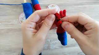 Spiderman, kol, ayak  siyah işlemeleri