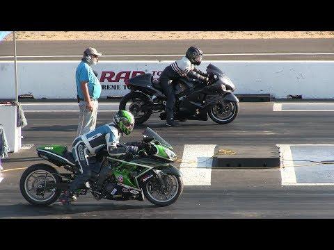WOW! That was fast!!!Turbo Hayabusa vs Kawasaki Ninja-drag race