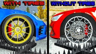 With Tires vs Without Tires testing #1 - Beamng drive