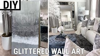 DIY Glittered Wall Art | THE BEST DIY Home Decor 2019