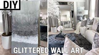 Diy Glittered Wall Art   The Best Diy Home Decor 2019