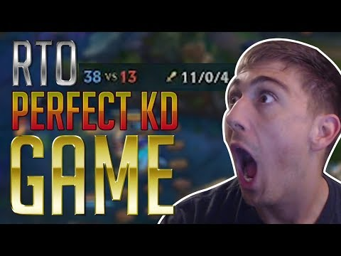 RTO BROKE League of Legends with a PERFECT KD GAME! | HIGH ELO MASTERS GAMEPLAY!