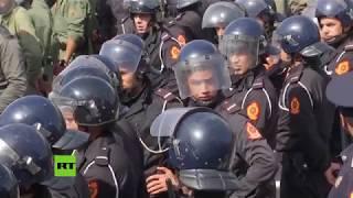 La Policía de Marruecos reprime una protesta de profesores