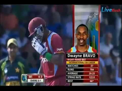 Pakistan Vs West Indies 2nd T20 28 July 2013 - Pak Vs WI 2nd T20 28 July 2013 Highlights WI Batting