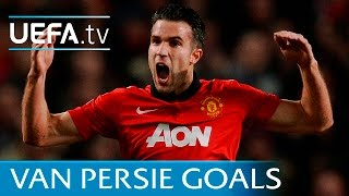 All of Robin van Persie's European goals for Manchester United