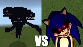 What Happens When Sonic.exe Fight Against the Wither Storm in Minecraft (Pocket Edition)?
