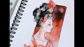 【Watercolor】The Empress of China Speedpaint [Drama]