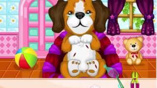 Лечим щенка. Онлайн игра для деток. Играем с Женей