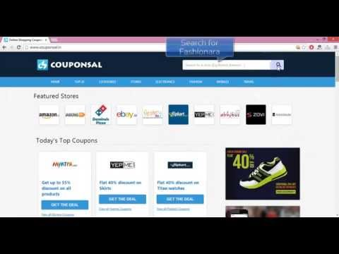 How to use Fashionara Coupons with Couponsal.in