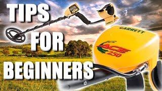 garrett ace 250 metal detector tips for beginners