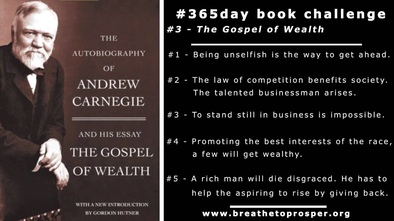 Andrew Carnegie The Gospel Of Wealth - Book #3 - YouTube