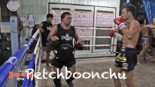 Muay Thai Champions Hitting Thai Pads