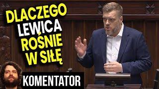 Dlaczego Lewica Zyskuje Poparcie Mimo Nierealnego Programu i Nawiązań do Komunizm Analiza Komentator