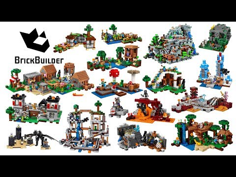 All Lego Minecraft sets compilation - Lego Speed Build