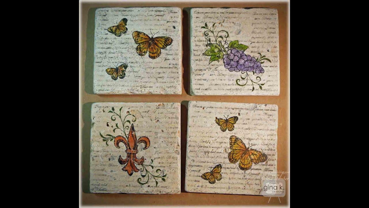 Tumbled Tile Coasters