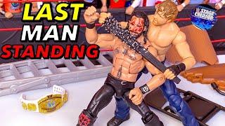 SETH ROLLINS VS DEAN AMBROSE LAST MAN STANDING CHAMPIONSHIP WWE ACTION FIGURE MATCH!