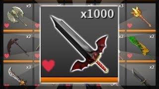 I TRADED FOR 1000 VAMPIRES! (BIGGEST HOARD) Roblox Assassin