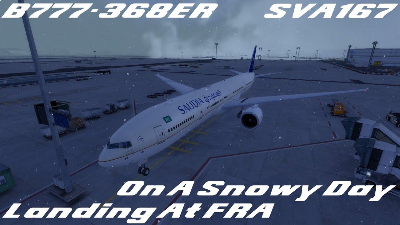 SAUDIA B777-300ER Landing Into FRA | SVA167 JED-FRA
