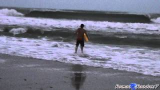 Атлантический Океан, шторм, волны, пляж. Swimming / Tropical Storm