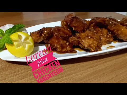 Fried chicken korean style (Yangnyeom)