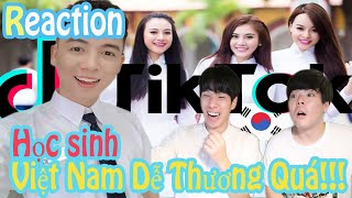 Reacion Tiktok Học sinh Việt Nam dễ thương quá!!! l JBros