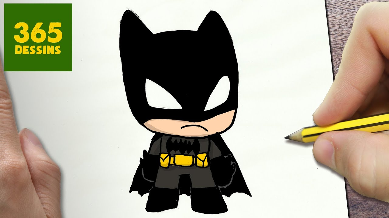 Comment dessiner batman kawaii tape par tape dessins kawaii facile youtube - Dessiner batman ...