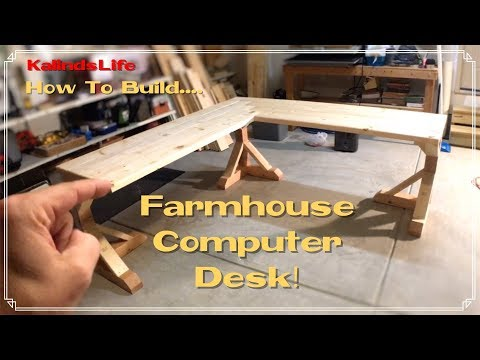 How To Build this Awesome Farmhouse Corner Desk!  LESS THAN $100!!!