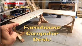 How To Build This Awesome Farmhouse Corner Desk Less Than 100 Youtube