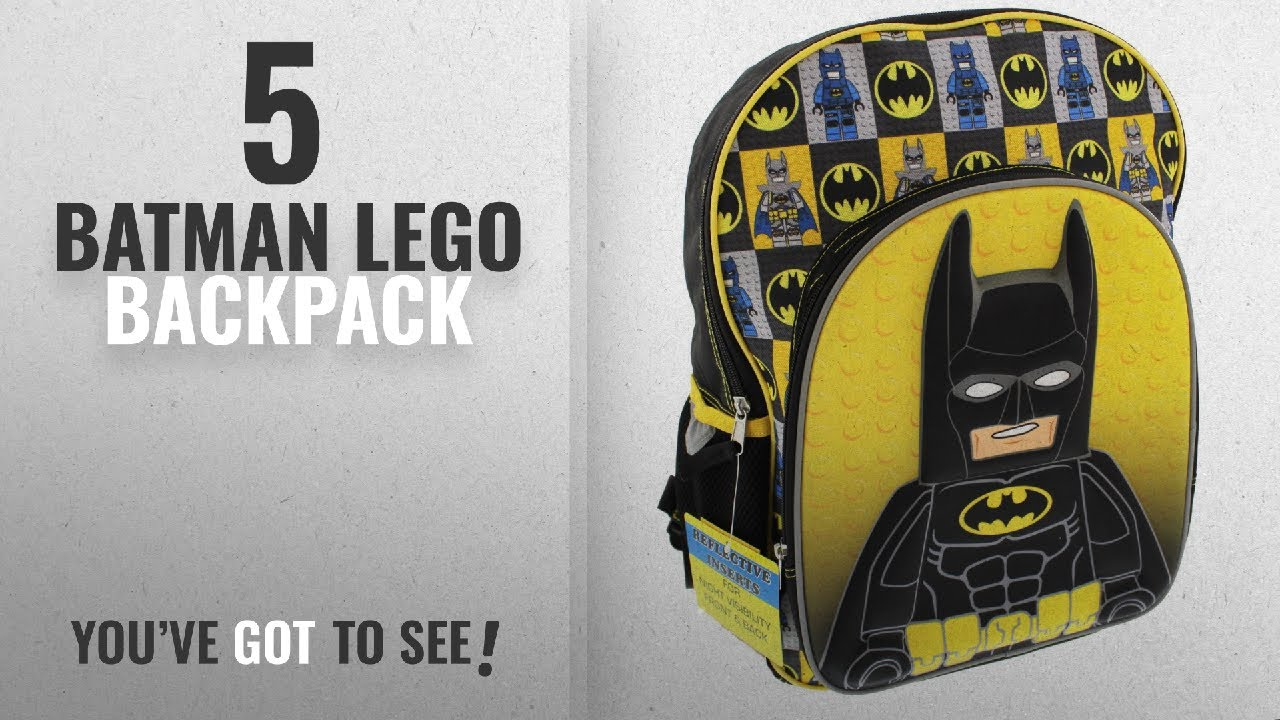 f180d0574ca Top 10 Batman Lego Backpack  2018   Lego Batman 16 inch School Backpack  (Black Yellow)