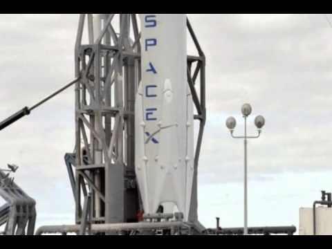 SpaceX rocket in historic upright landing
