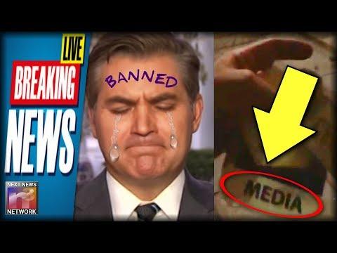 BREAKING: Trump BANS Acosta - Secret Service STRIPS White House Press Credentials!