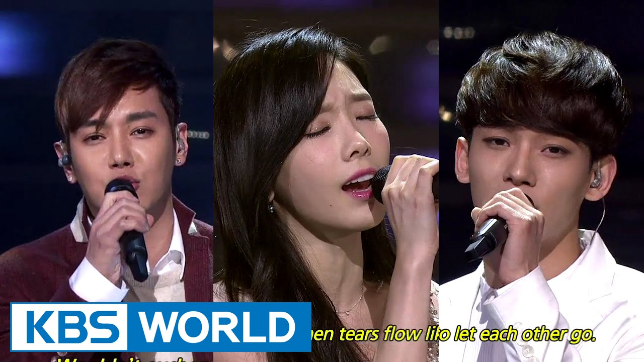 TaeYeon & CHEN, HwanHee – Breath / Like the Stars [2014 KBS Song Festival / 2015.01.14]