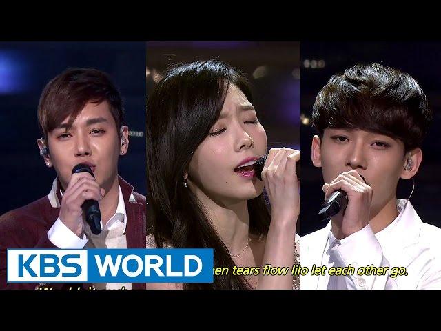 TaeYeon & CHEN, HwanHee - Breath / Like the Stars [2014 KBS Song Festival / 2015.01.14]