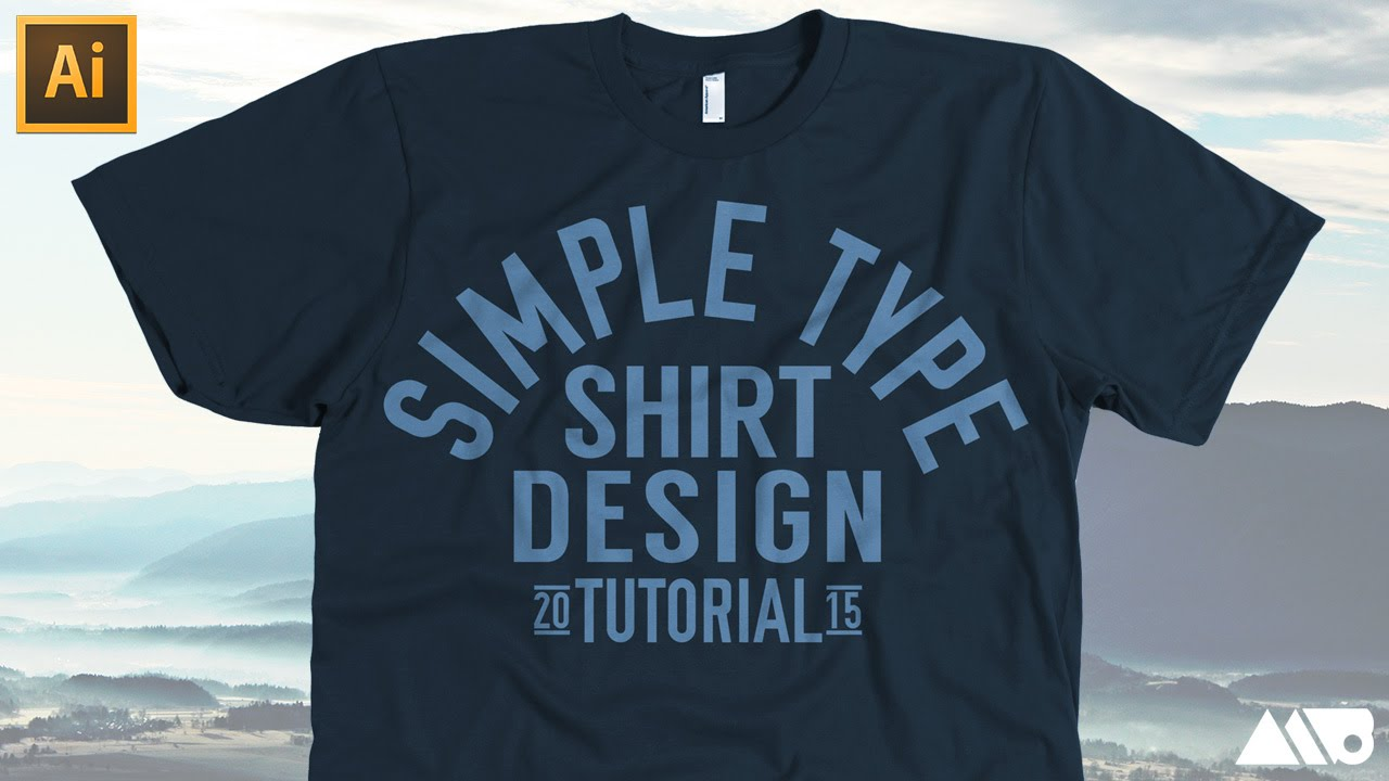 Simple type t shirt design in adobe illustrator tutorial for How to copyright at shirt design