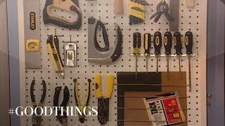Good Things: How To Make A Pegboard Tool Organizer - Martha Stewart
