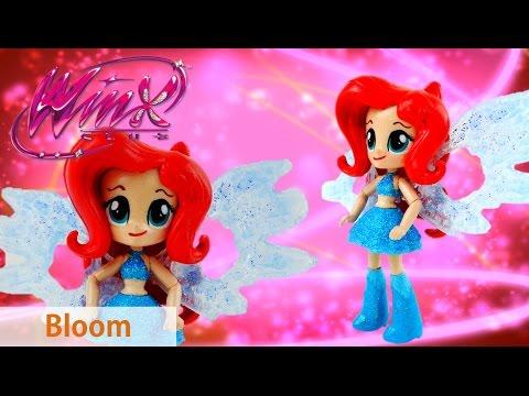 New Winx Club Bloom Doll Tutorial DIY with Resin Fairy Wings - MLP Equestria Girls Custom