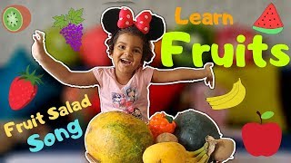 Fruit Salad Song | Learn Fruits | Fruits Learning for Kids