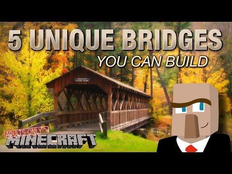 5 UNIQUE MINECRAFT BRIDGES YOU CAN BUILD