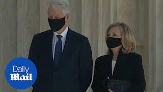 Clintons pay respects to Ruth Bader Ginsburg at Capitol