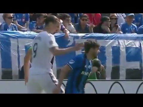 Zlatan Ibrahimovic SLAPS Opponent In the FACE!