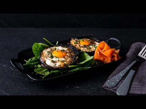 Eggs Baked In Portobello Mushrooms