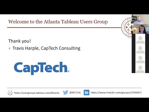 Virtual Atlanta Tableau User Group - 19 March