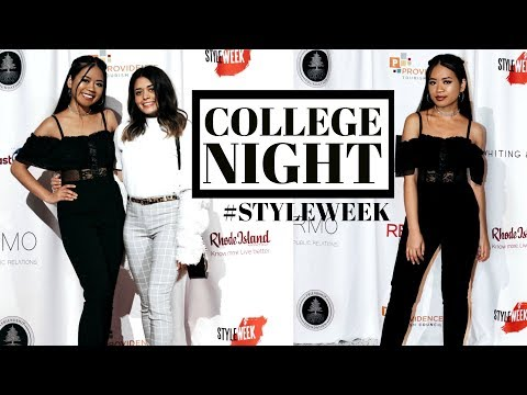 COLLEGE NIGHT IN MY LIFE: STYLE WEEK- PROVIDENCE, RHODE ISLAND