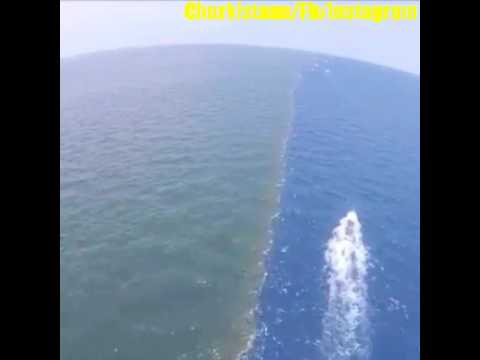 Miracle of QURAN Two See meets but water doesn't mix SUBHANALLAH