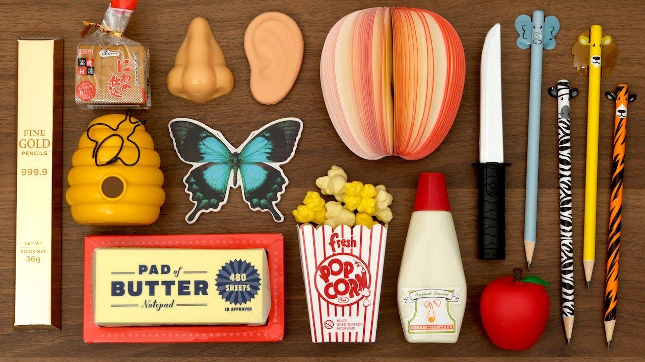 おもしろ文房具コレクション(3)Funny Stationery Collection. Japanese Popcorn Machine