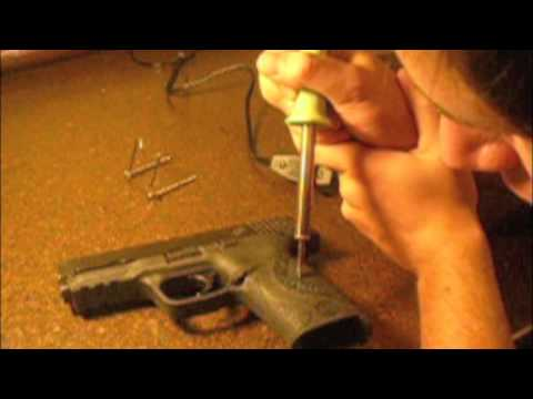 how to stipple your polymer framed handgun m p 9 youtube. Black Bedroom Furniture Sets. Home Design Ideas