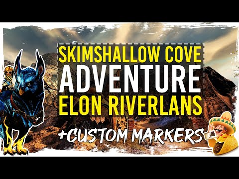 Guild Wars 2 Path of Fire - Adventure - Skimshallow Cove Supply Run - Gold Chest + TacO Markers