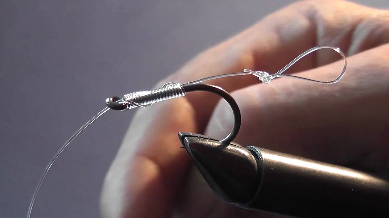 Tying A Hair Rig Using The Knotless Knot Youtube