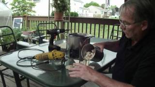 Papa Makes A Large Portable Wood Gas Stove...  Part 1