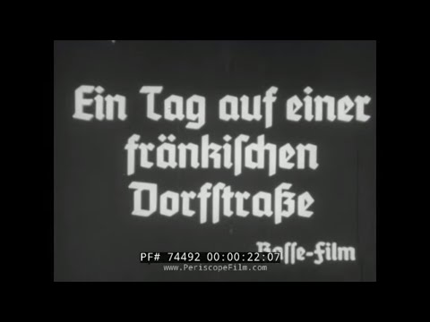 LIFE IN A GERMAN VILLAGE / BAVARIA 1930s SILENT FILM 74492